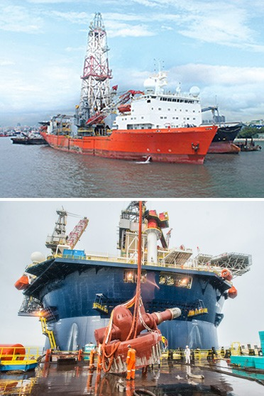 Construction and fabrication works of sections or components of drilling rigs & drillships